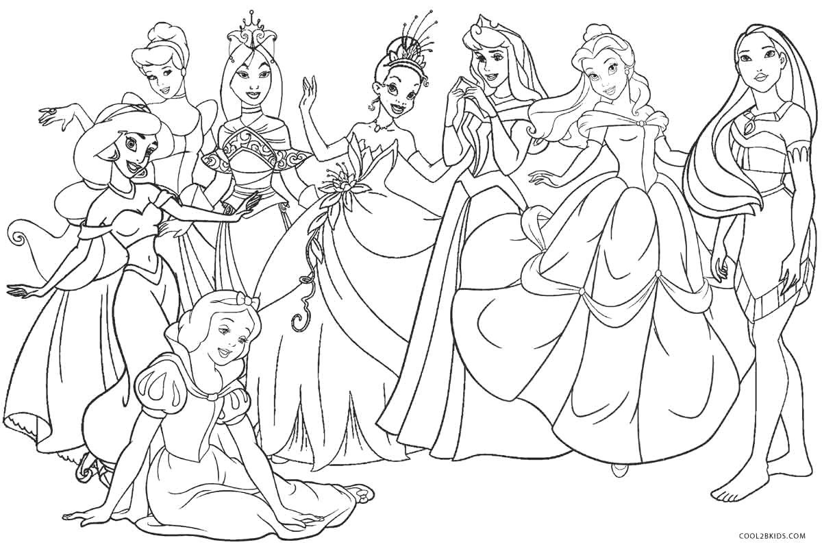 Printable Princess Coloring Pages Disney Princess Color Pages