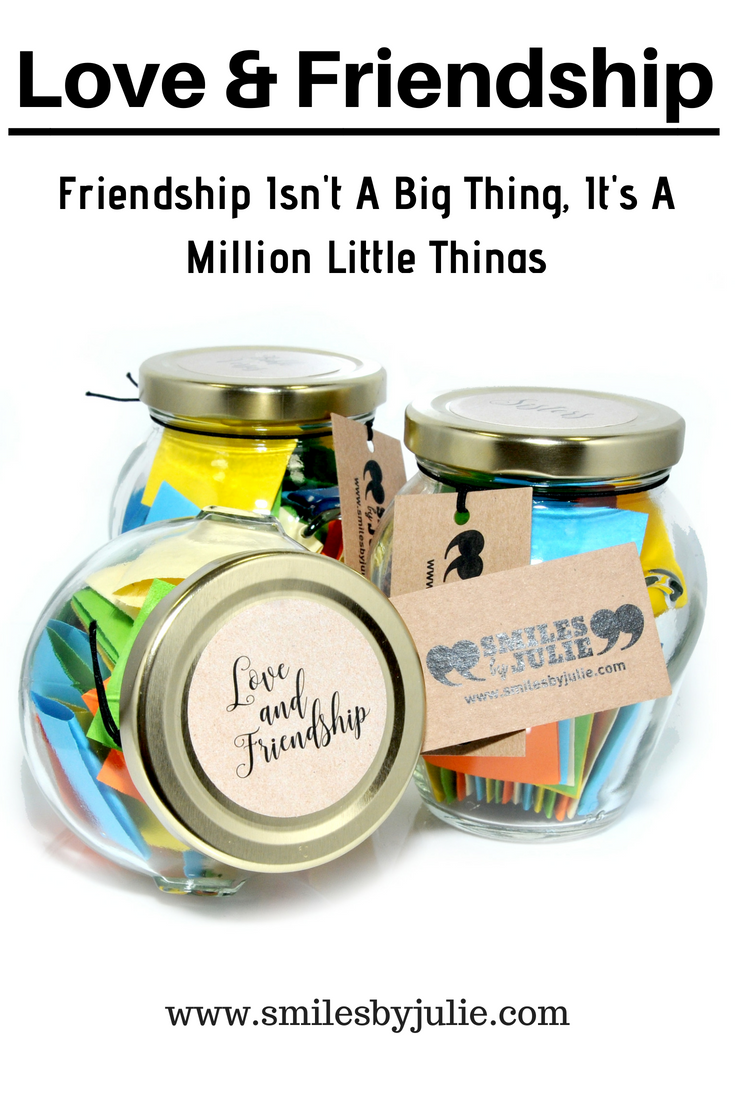 96c1c9f700de Love   Friendship in a Jar. A Month of Thoughtful   Happy Quotations in a  NEW STYLE 314ml Premium Italian Orcio Glass Jar. The Perfect Gift.