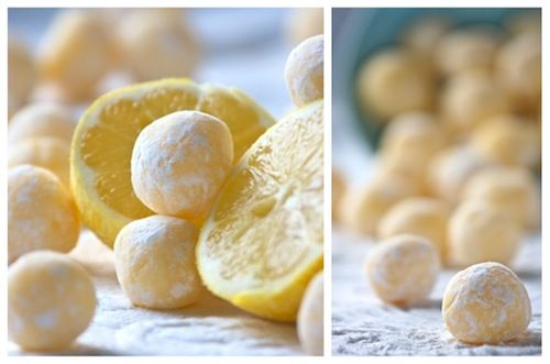 White chocolate lemon truffles. They sound so delicious and easy to make. Perfect for a Mother's Day sweet table or gift.
