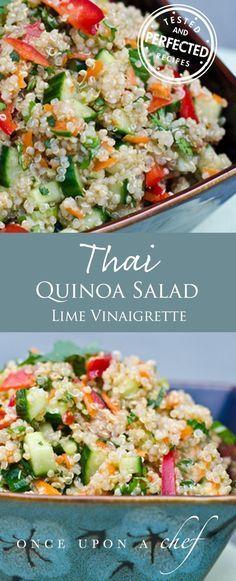 Thai Quinoa Salad with Fresh Herbs and Lime Vinaigrette