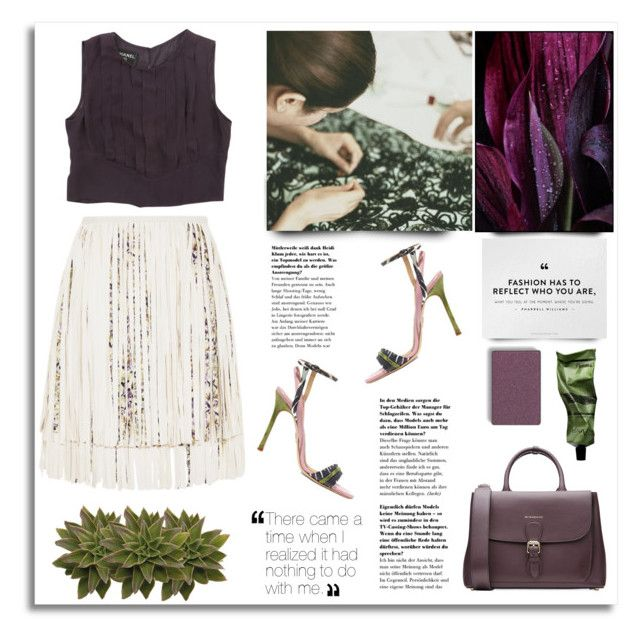 """""""Plum and olives"""" by vigilexi ❤ liked on Polyvore featuring Chelsea Paris, Giambattista Valli, Burberry, Mary Kay, Aesop and Chanel"""