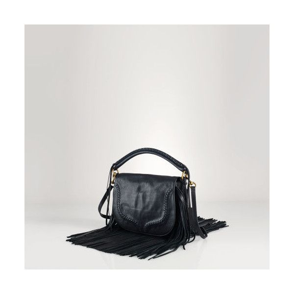 Polo Ralph Lauren Fringed Leather Saddle Bag ( 628) ❤ liked on Polyvore  featuring bags 58fbe5b51ce64