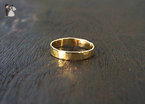 Solid 18K White Gold Genuine Diamond Band Ring Handmade Jewelry