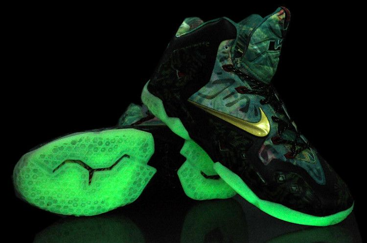 sports shoes b6216 eb23b Nike Air Max LeBron 11 P.S ELITE Collection Basketball Shoes Night Lights  For Men