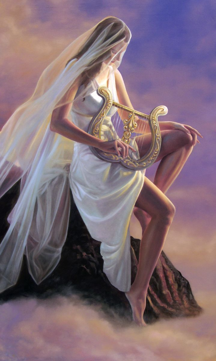 polyhymnia muse of sacred song one of the nine muses by