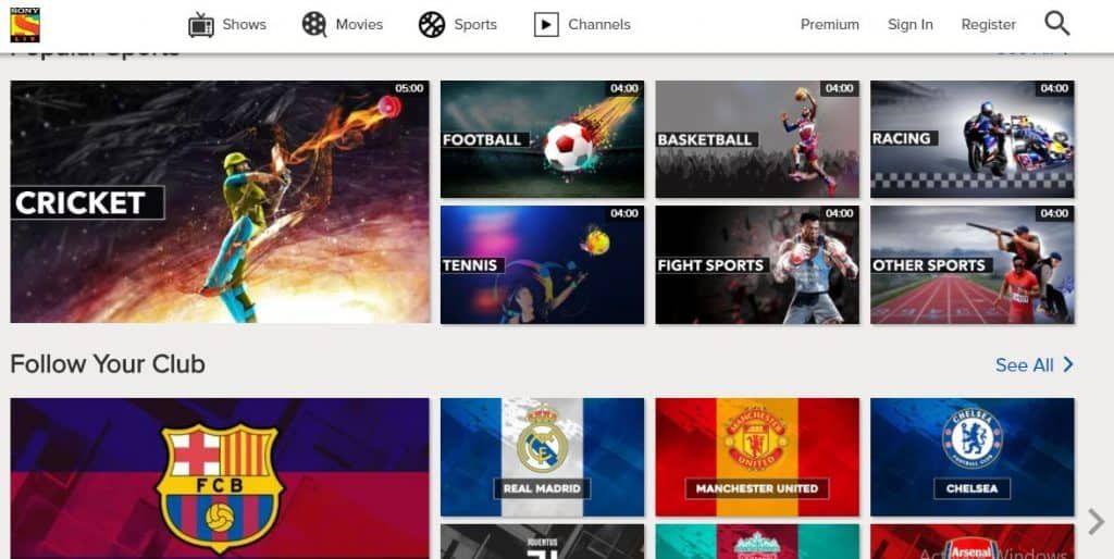Sonyliv Sports Site Sports Sites Fun Sports Sports