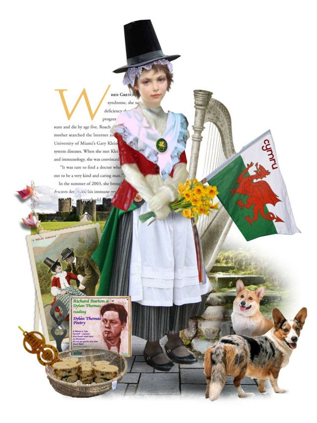 """""""Welsh Traditional Dress"""" by ellen-hilart ❤ liked on Polyvore featuring art"""