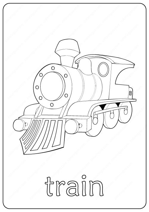 Printable Train Coloring Page Book Pdf Train Coloring Pages Coloring Pages Free Coloring Pages