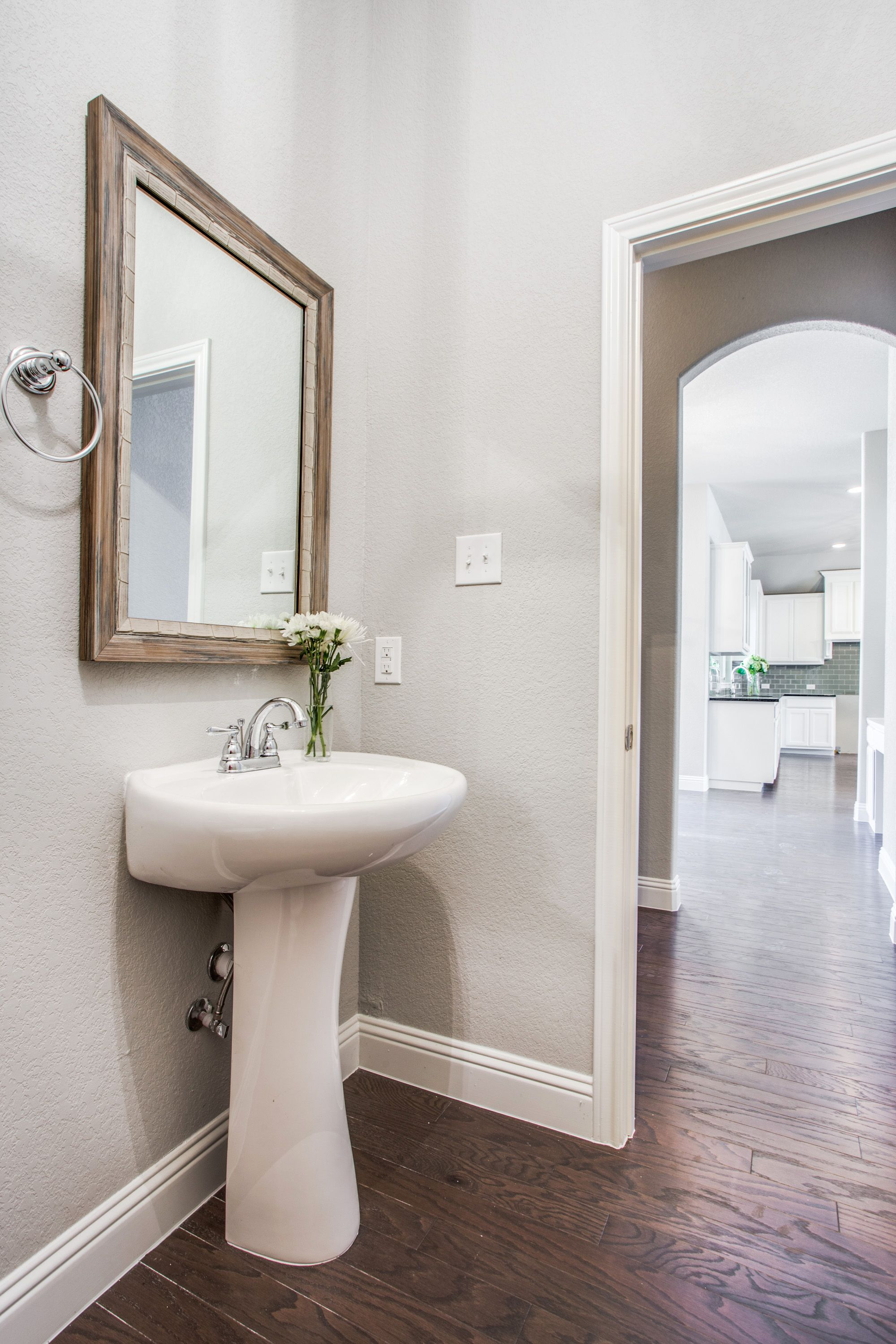 Powder Bath + Wood Frame. Clarity Homes. Early Bird Gets the Worm ...
