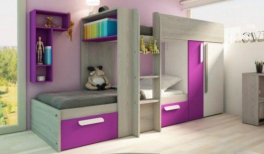 more photos edf81 c5d00 90cm Bunk Bed Cadiz Pink Doors | Bed, Benson for beds, Bunk beds
