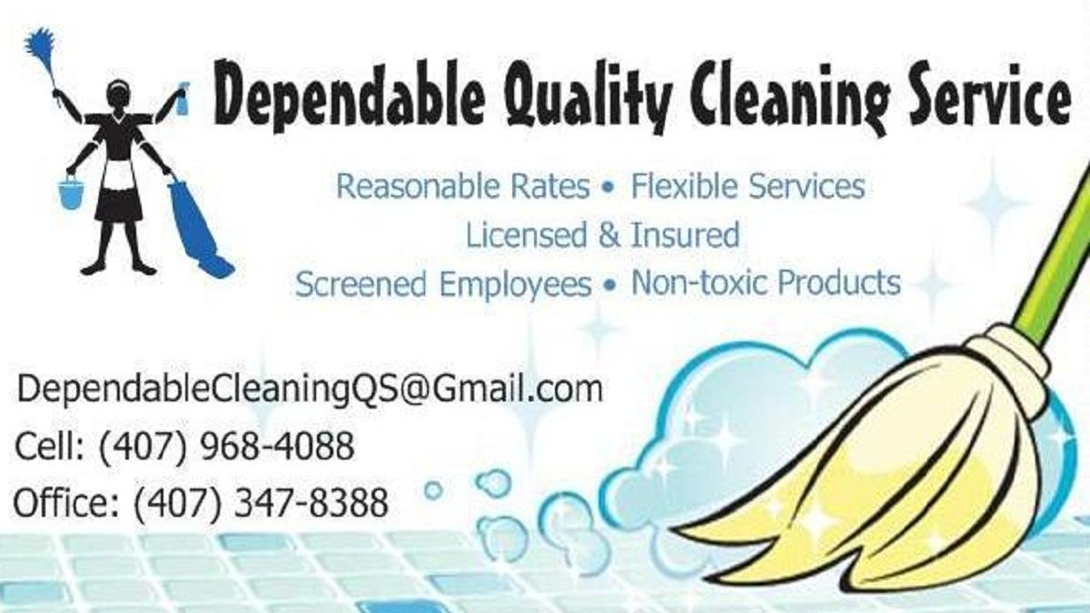 commercial cleaning services business cards