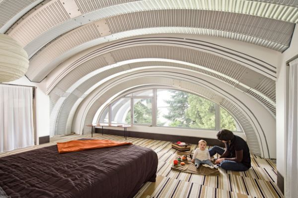 quonset- hut-homes-Exterior-Eclectic-with-curved-roofline-early-green