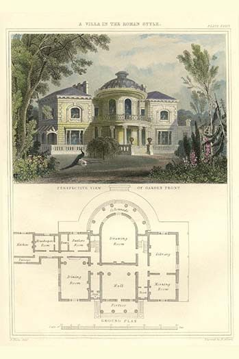 Villa In The Roman Style Vintage House Plans Roman Fashion Architecture