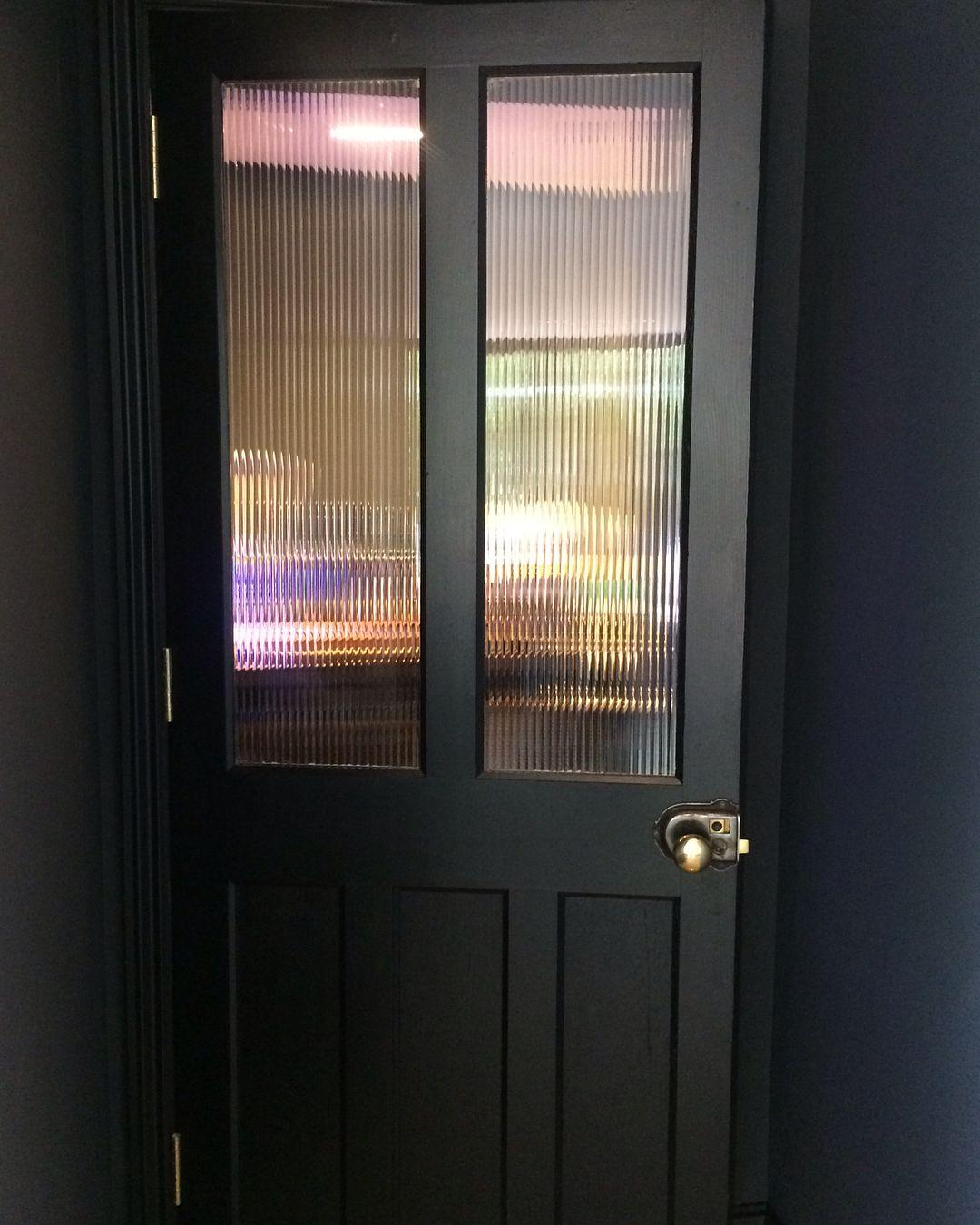 Reeded Gl Vintage Door To Pantry