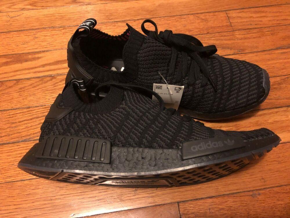 New Adidas Nmd R1 Stlt Pk Primeknit Triple Black Boost Cq2391 Us Mens Size 11 Fashion Clothing Shoes Accessories Adidas Nmd R1 Athletic Shoes Adidas Nmd