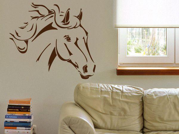 Motiv+Pferdekopf+als+Sticker+f