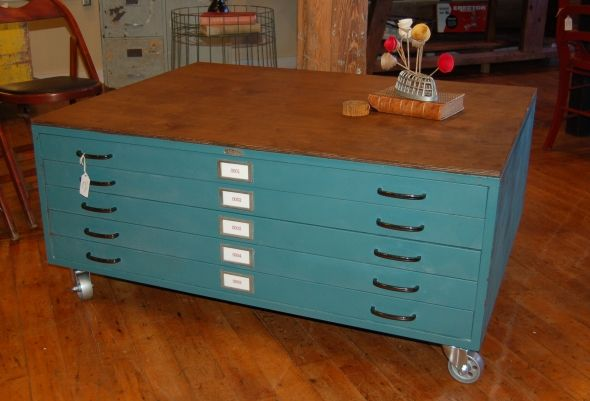 Flat File Coffee Table: Yellow Chair Marketplace