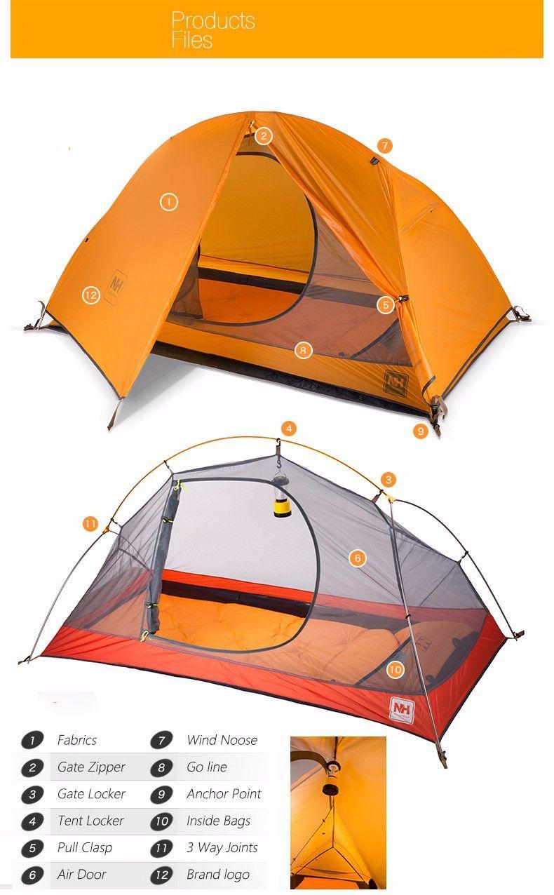 1 3kg Naturehike Ultralight Tent Trekking Camping Alpinism Cycling Beach Double Layer Tourist Bilayer 1 Person A Tent Tenda In Ten Hiking Tent Camping Mat Tent
