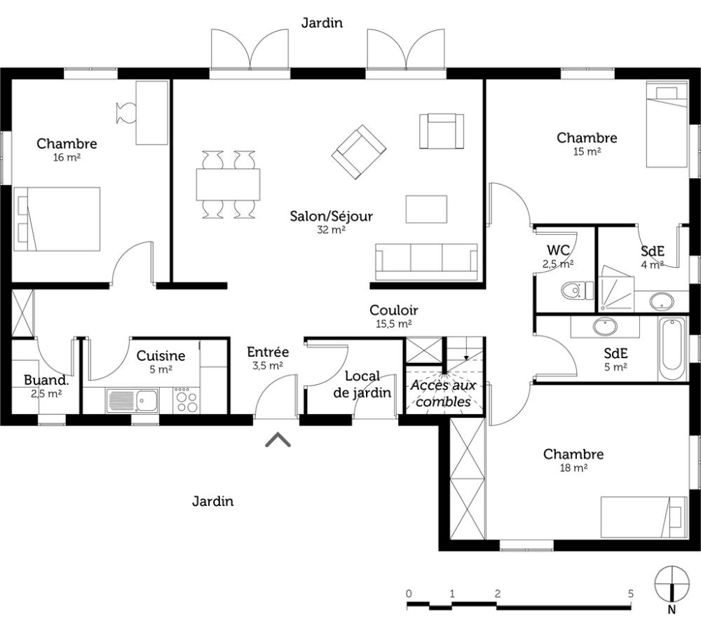 Epingle Sur Plan Maison Plain Pied