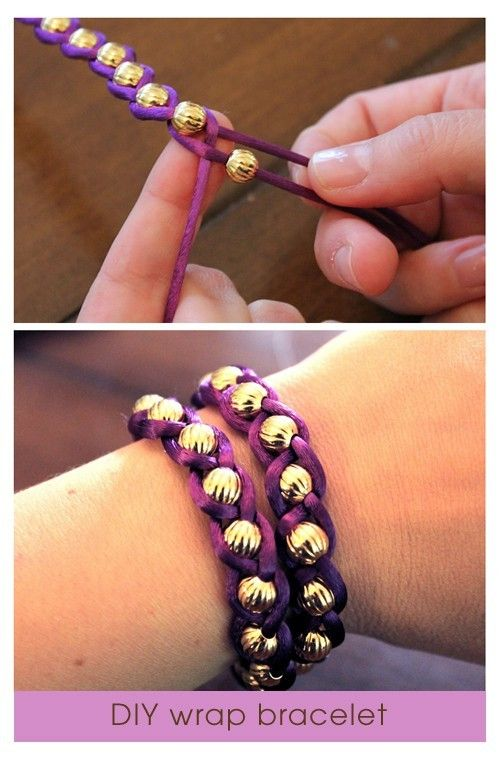 Crafts / DIY braided bracelet with beads
