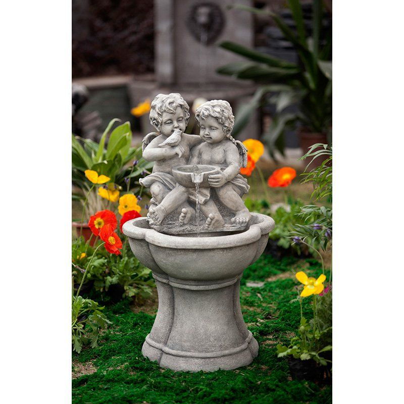 Jeco Cherub Water Indoor / Outdoor Fountain With LED Light | From  Hayneedle.com