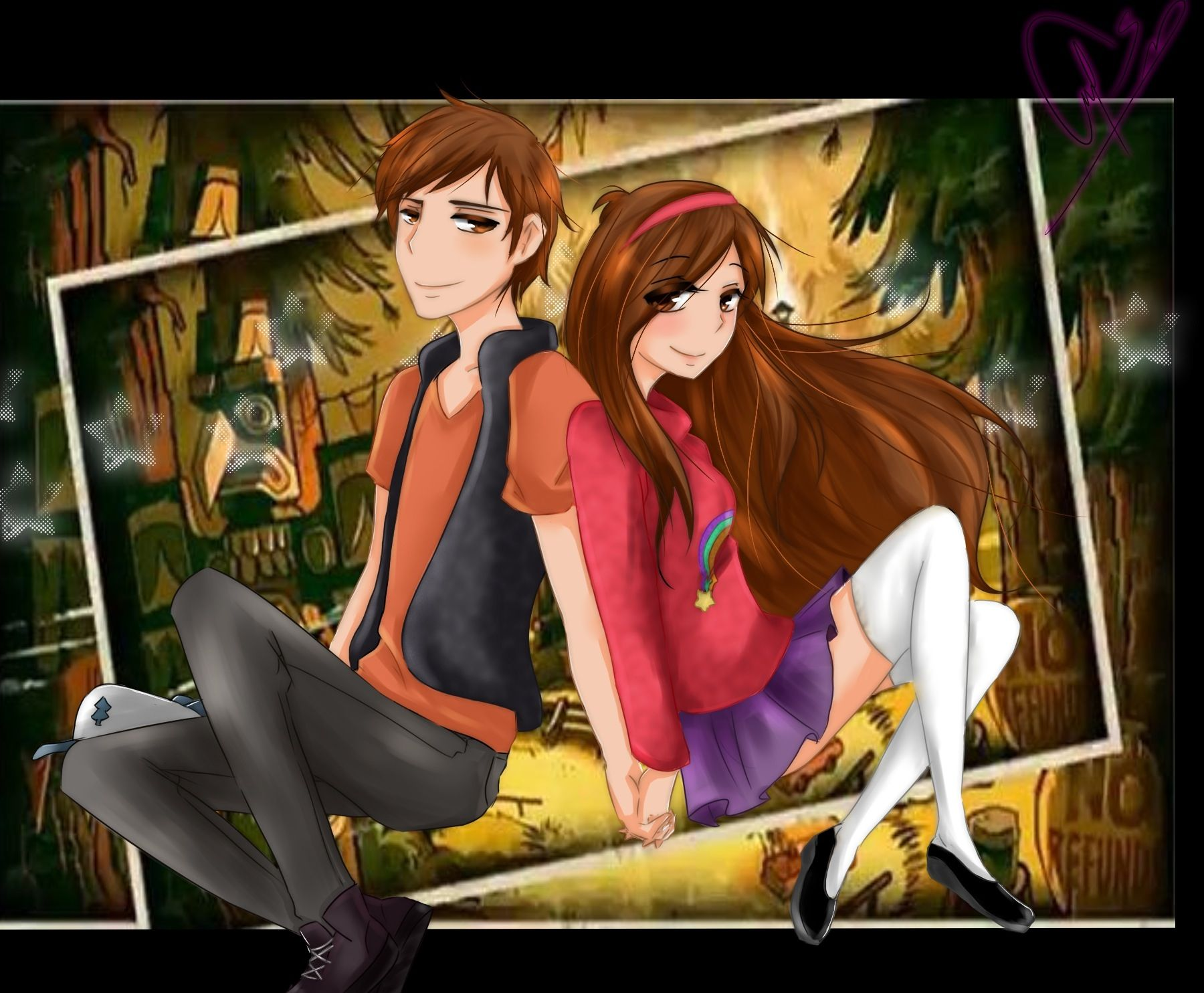 Gravity Falls Mabel And Dipper Pines Anime