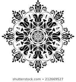 Einfache Schwarz Weiss Muster Von Mandalas 3