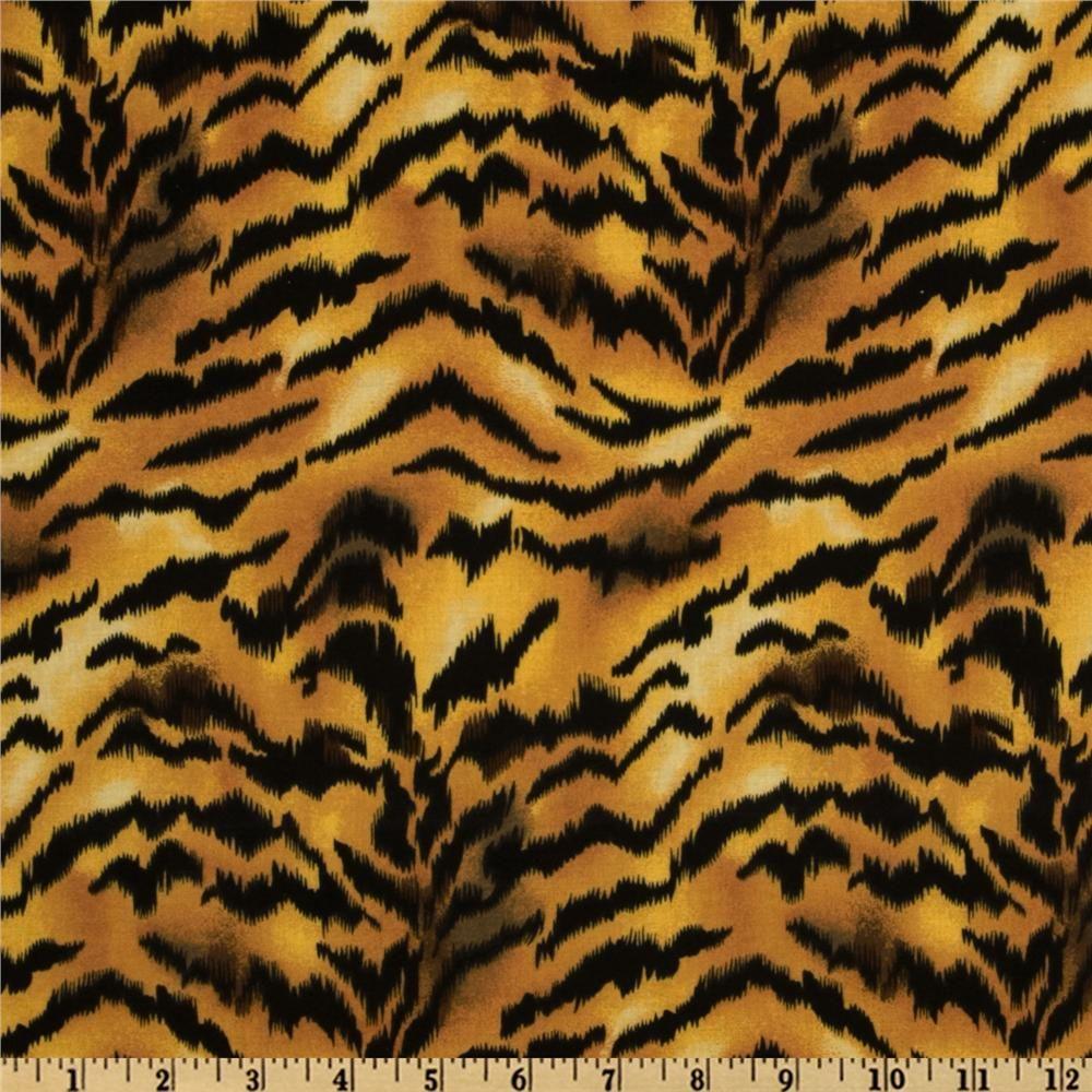 Animal Print Tiger Gold Black From Fabricdotcom Designed