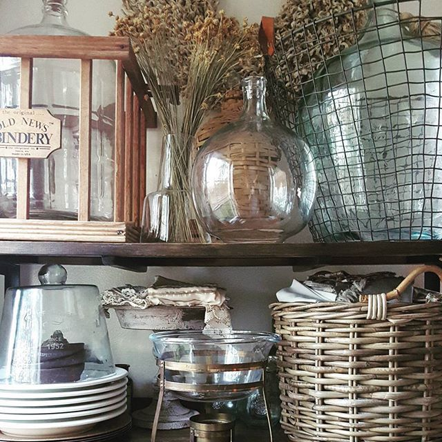 Attractive Glass Bottles, Baskets And Demi Johns...just A Few Of My Favorite