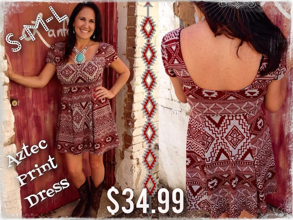 The Bling Box - Aztec Print Dress, $34.99 (http://www.theblingboxonline.com/aztec-print-dress/)