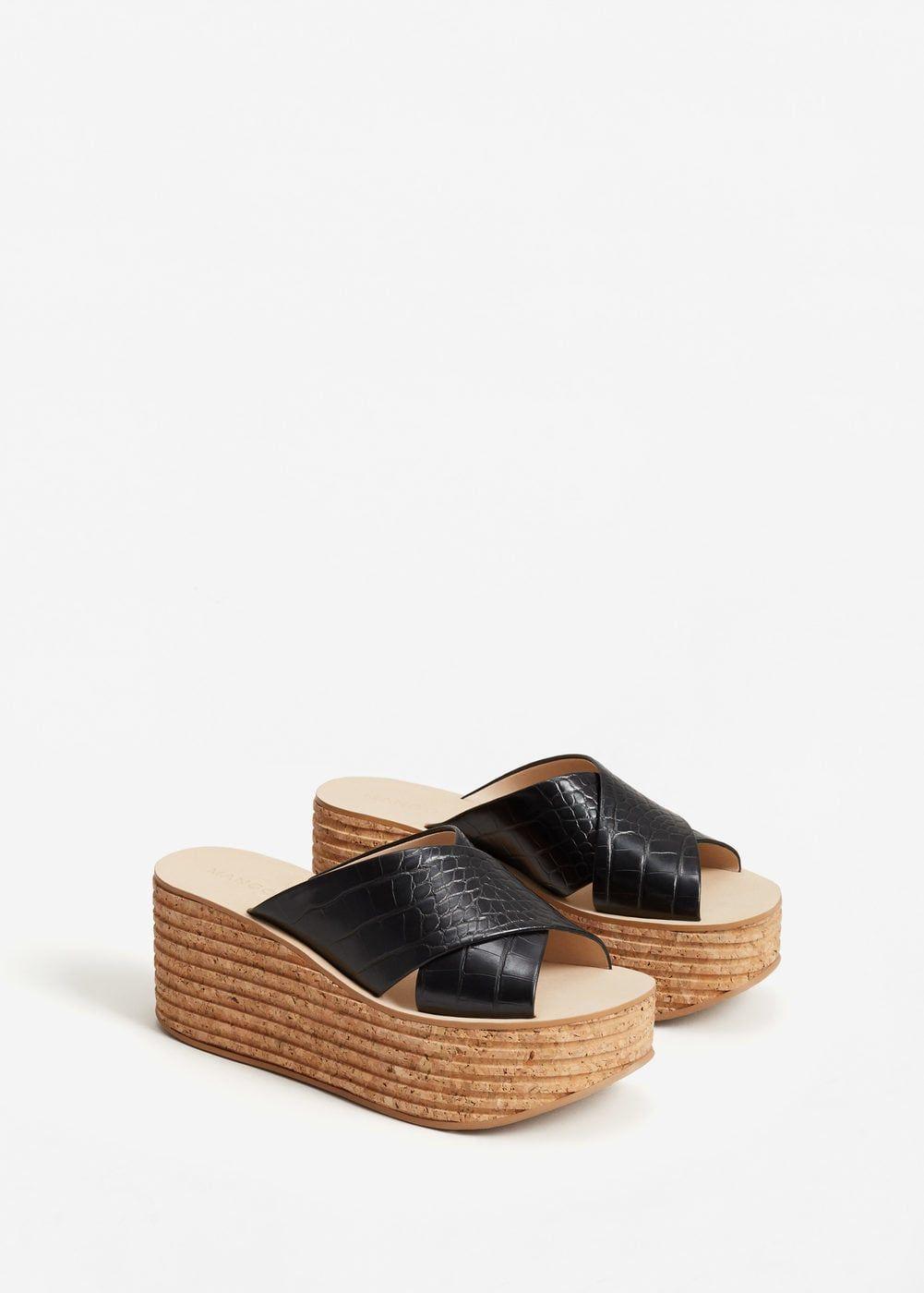 Sandales lanières croisées - Femme