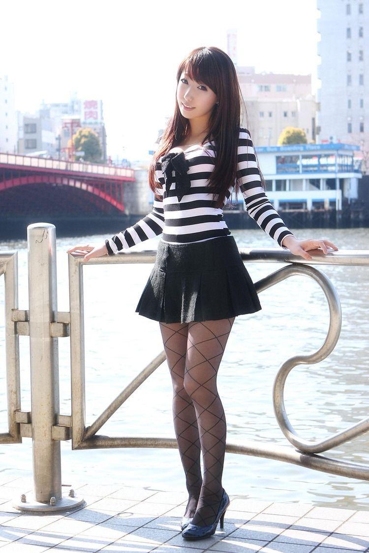 Asian girl in skirt