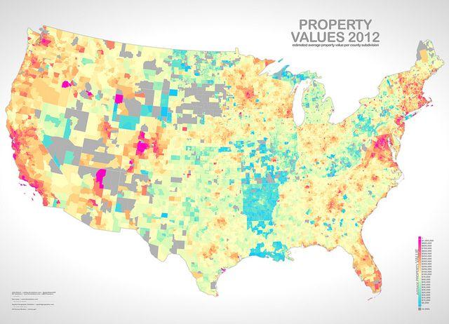 Property Values Map Property Value | Maps | Big data visualization, Data visualization