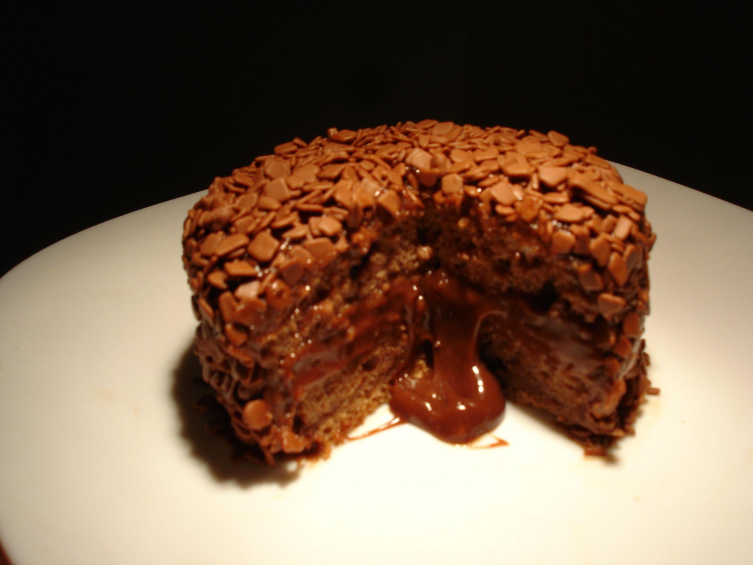 mini bolo de brigadeiro belga