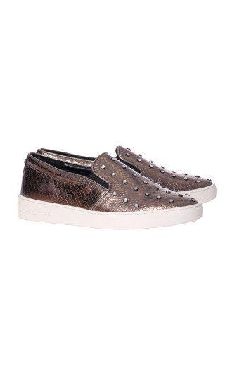 MICHAEL MICHAEL KORS Michael Michael Kors Embellished Slip-On Sneakers. #michaelmichaelkors #shoes #sneakers