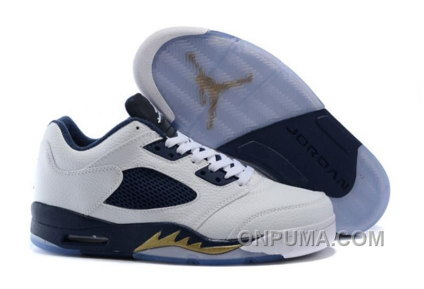 """Buy 2016 Air Jordan 5 Low """"Dunk From Above"""" White/Metallic Gold Star-Midnight  Navy Discount from Reliable 2016 Air Jordan 5 Low """"Dunk From Above"""" ..."""