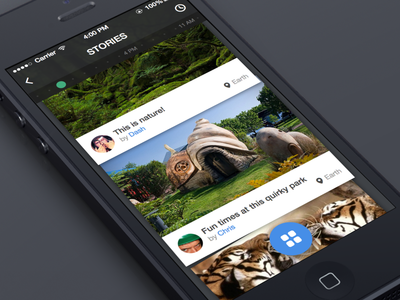 Just called stories, but cool simple UI to tell a story