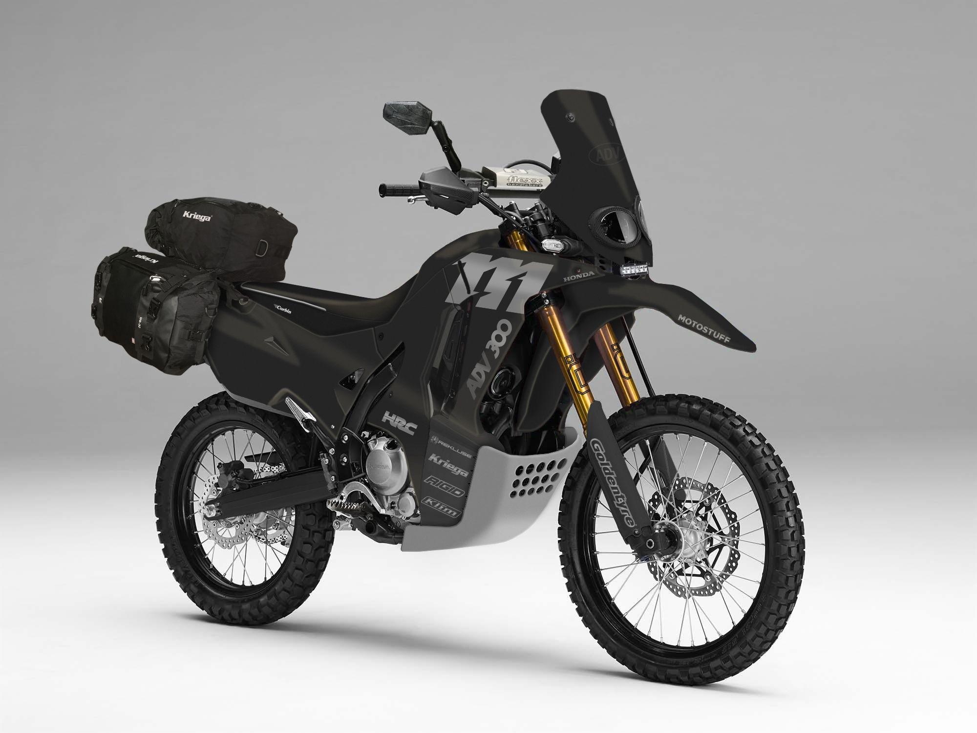 Honda Crf250l Rally Adv Black Honda Motorcycle