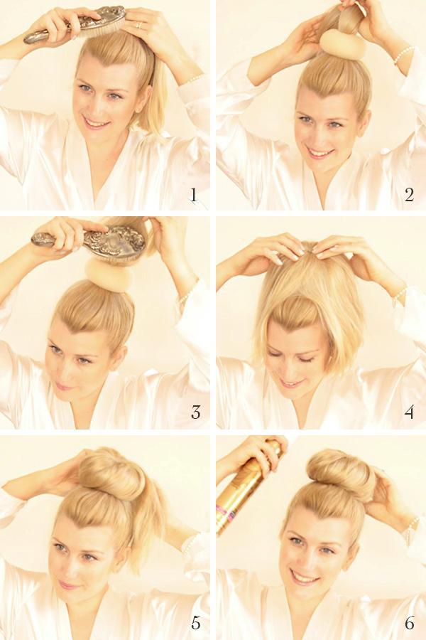 Sock Bun Tutorial For Long Hair High Bun Updos Ballerina Bun - High bun hairstyle tutorial