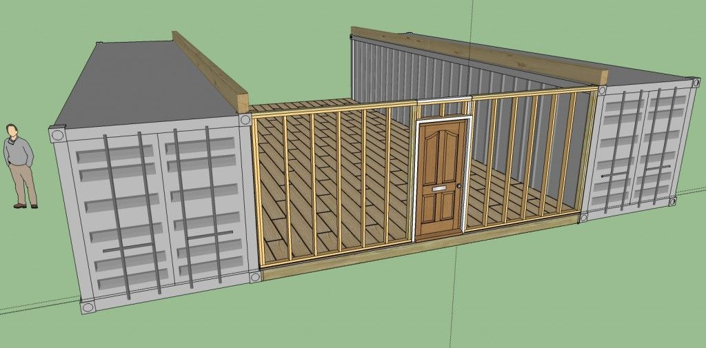 12 steps how to build a cozy 1720sqft solar powered - Companies that build shipping container homes ...