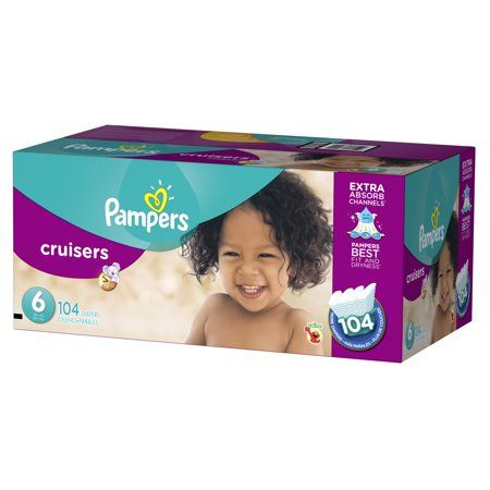 Pampers Cruisers Diapers Size 6 104 Count White Diaper