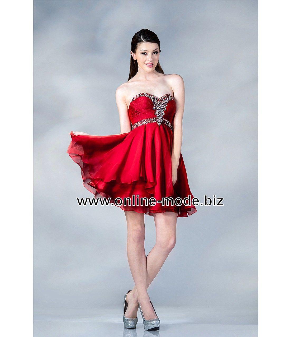 Rotes Cocktailkleid Abend Kleid Online | Rote Kleider online kaufen ...