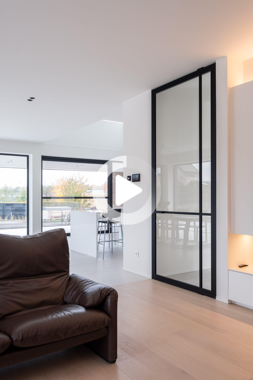 Porte In Alluminio Anodizzato crittall stile di porta di vetro del perno realizzato con