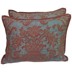 Pair of Rare Quilted Fortuny Pillows
