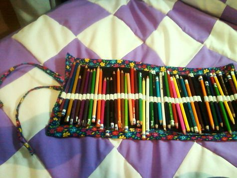 Easy Fabric Pencil Roll Diy Sewing Colored Pencil Case