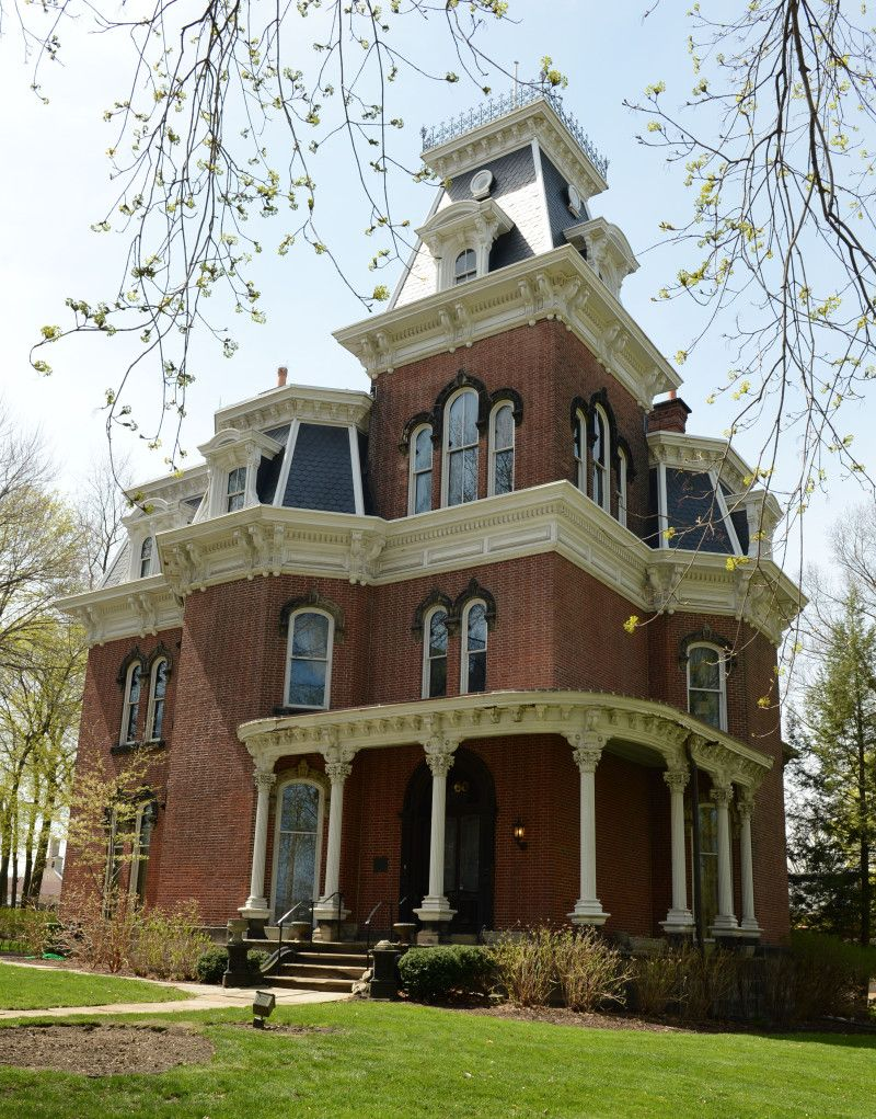 Hower House...Second Empire Italianate structure, built in 1871 by