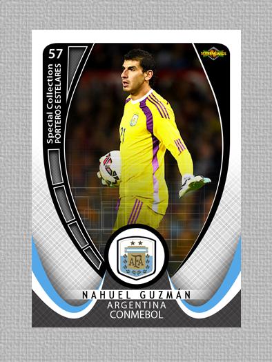 Card: Nahuel Guzmán  Nacionalidad: Argentina Club: Tigres UANL/ México Colección: Porteros Estelares