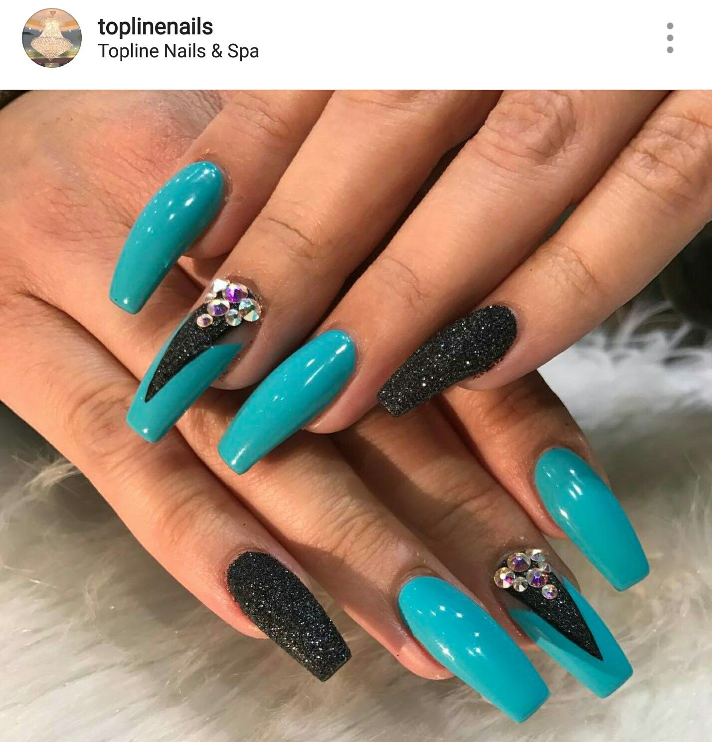 Square Nails. Acrylic Nails. Turquoise Nails. Turquoise Acrylic Nails, Turquoise  Nail Designs - Square Nails. Acrylic Nails. Turquoise Nails. Nails In 2018