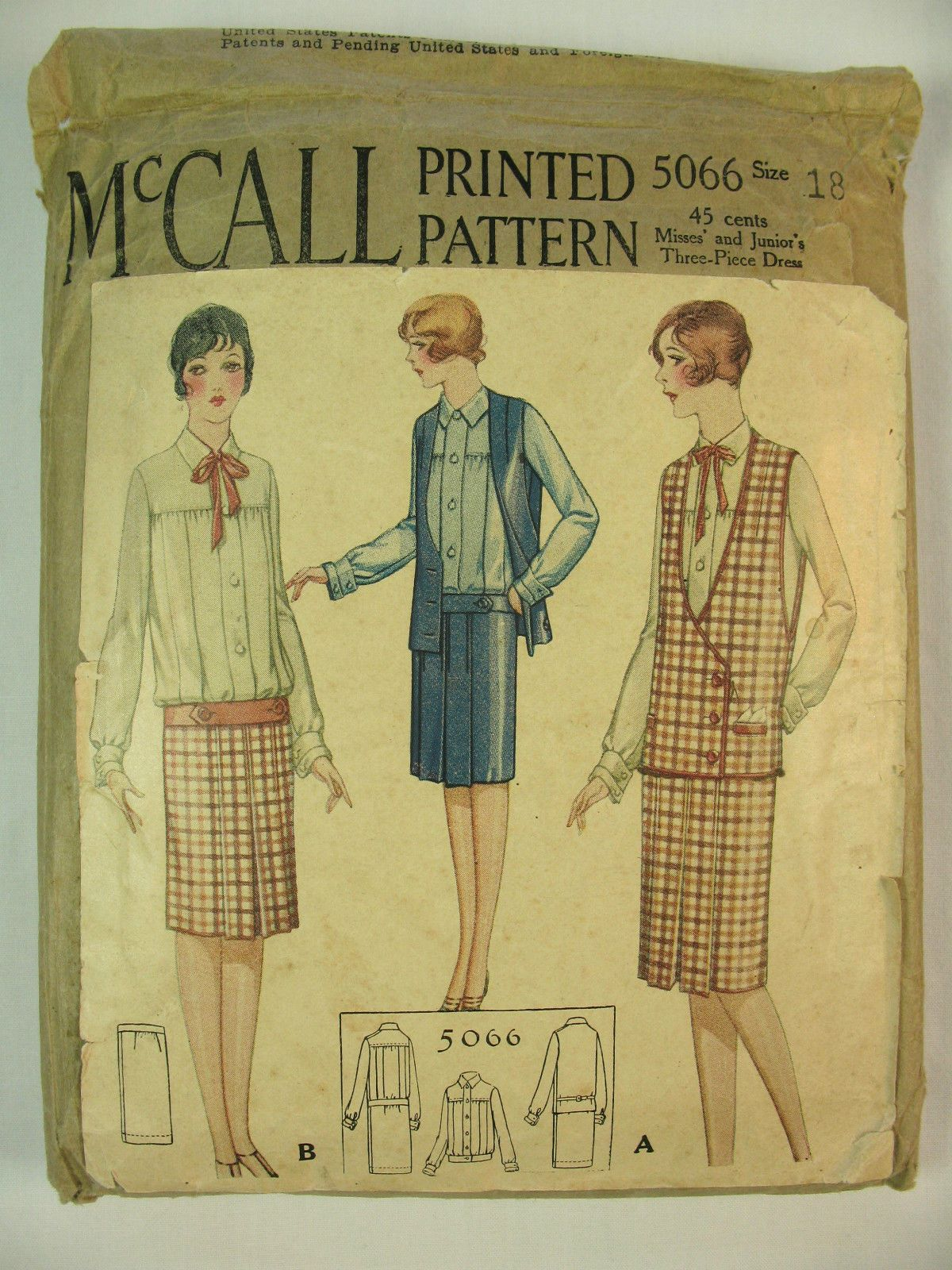 Two McCall 1920's Vintage Flapper Era Dress Patterns ...