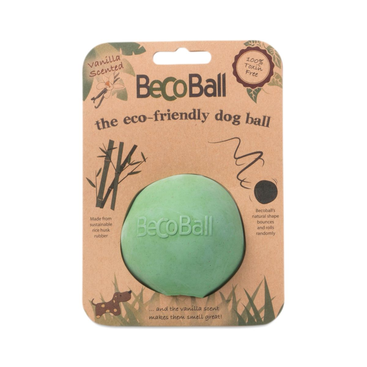 Green Beco Ball, Medium is part of Dog ball - Hide a treat or 2 in this medium ball toy for dogs and your pooch will be busy for hours, safely playing with this nontoxic rubber ball